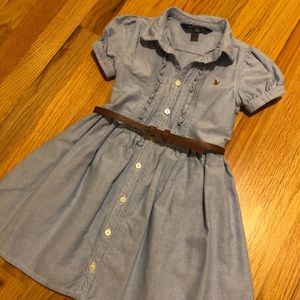 Polo by Ralph Lauren Light Denim Dress with Belt